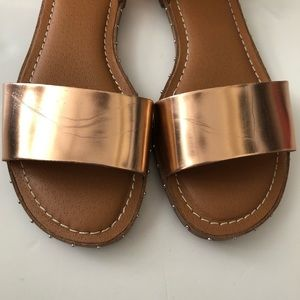 Franco Sarto Shoes - Franco Sarto Rose Gold Venice Sandal